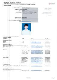 Cover Sheet Report by Intern Log Sheet