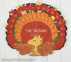peanuts thanksgiving advent calendar pottery barn