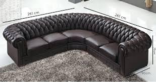 canapé d angle capitonné canape canape capitonne cuir marron dangle noir meridienne