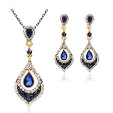 diamond necklace earring set images Alloy diamond necklace earrings set tinklebuy jpg