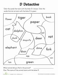 letter d detective worksheet education com