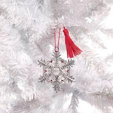2017 snowflake pewter ornament avon