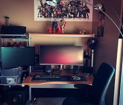 Gaming Desk Pad 495 Best Desk Set Up Images On Pinterest Gaming Setup Pc Setup