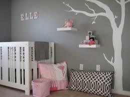 stickers muraux chambre bébé chambre enfant chambre bébé fille gris murs gris stickers