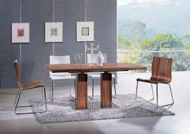 brown dining chair in natural brown colors and chrome base st contemporary dining chairs dinette furniture