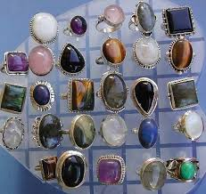 silver rings stones images Semiprecious stone silver ring at rs 110 gram chandi ratn ki jpg