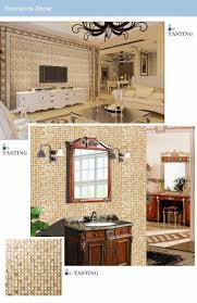splendid and matting mosaics gold glass brick tiles kitchen