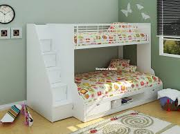 Trio Single And Small Double Bed Bunk Beds Kids Room - Single bed bunks