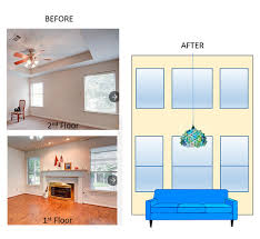home design story rooms expanding ceiling height in living room to make 2 story living room