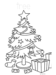 picture christmas tree coloring