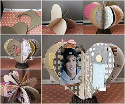 creative photo albums ideas diy 3d paper heart mini album