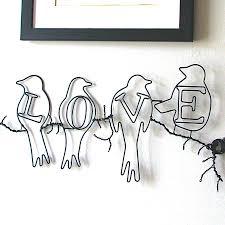 wire wall art home decor uk home painting sculptures notonthehighstreet com wire wall art home decor