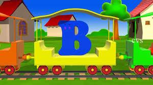 learn alphabet train song 3d animation alphabet abc train song