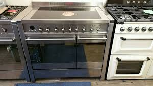 Smeg 110 Gloss Black Induction Smeg All Electric Induction Range Cooker 100cm In Weston