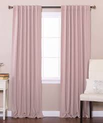 Best Home Fashion Curtains Best Home Fashion Dusty Pink Blackout Curtain Panels Set Of Two