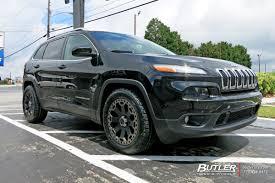 jeep cherokee black 2015 jeep cherokee custom wheels black rhino warlord 18x et tire
