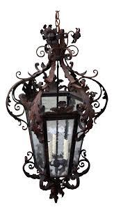 spanish wrought iron lantern chairish