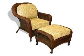 Ottoman Cushions Ottoman With Cushion Wicker Colors Shown With An Opal Cushion