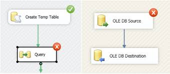 how to create and use temp tables in ssis
