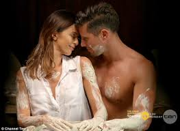 film ghost scene pottery sam wood kisses emily simms neck on the bachelor daily mail online