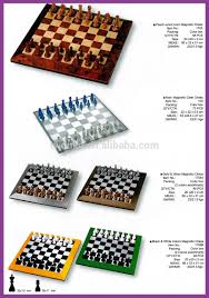 peach wood color magnetic chess game includes chessmens