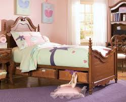 bedroom lovely blanket motif and pillow on wooden mini bed of