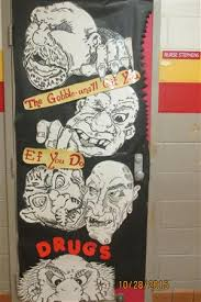 Red Ribbon Door Decorating Ideas Red Ribbon Week Door Decorations