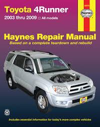 toyota 4runner 03 09 haynes repair manual haynes manuals
