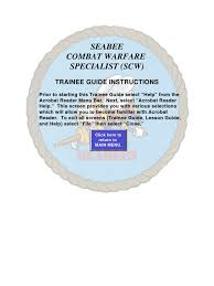 seabee combat warfare specialist trainee guide cartridge