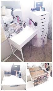 Diy Makeup Vanity Chair Diy White Ikea Vanity Makeup Organization Louis Ghost Chair