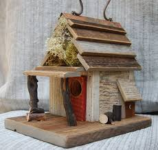 decorative bird houses with beautiful furnishing added the