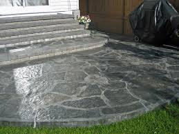Slate Rock Patio by Patio Perfect Stamped Concrete Patio Stamped Concrete Patio Ideas