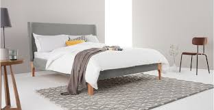 roscoe super kingsize bed grey made com