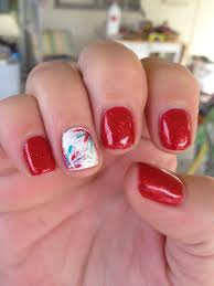 sparkly red with 4th of july accent nail design yelp