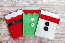 make a gift card felt character christmas gift card holders diy candy