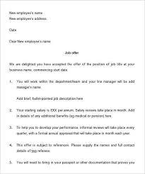 opt job offer letter sample