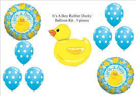 amazon com it u0027s a boy rubber ducky duckie baby shower balloons