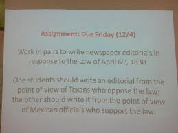 how to write a process paper for history fair busy bobcats 7th social studies homework reminders process paper 3 empresario resume cover letter 4 texas settlements under spain under mexico term sort 5 law of april 6 1830 editorial 6 history