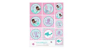 mermaid topper template aa7 flyer zazzle