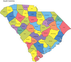 map of and south carolina south carolina map with counties