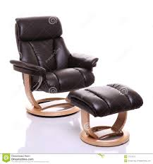 Leather Reclining Chairs Luxurious Leather Recliner Chair With Footstool Royalty Free Stock