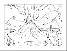 coloring pages volcano volcano coloring page volcano coloring page volcano remarkable