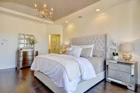 white tufted headboard bedroom shabby chic style with daybeds