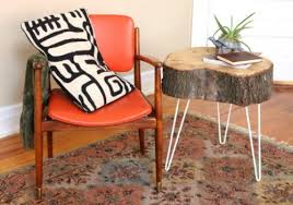 How To Make A Tree Stump End Table by Diy Rustic End Table From Tree Stump Slice Shelterness