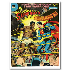 Superman Room Decor by Superman Vs Muhammad Ali Art Silk Poster Fabric Print 12x16 24x32