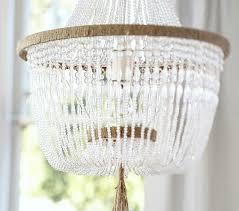 bead chandelier rissa beaded chandelier pottery barn kids