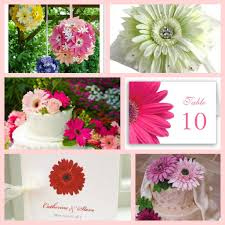 gerbera daisy wedding theme