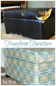 Diy Reupholster Ottoman by A Little Leopard In Our Living Room The Old Furniture And Ottomans