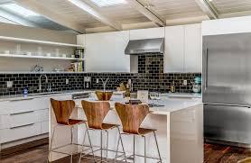 Midcentury Modern Kitchens - mid century modern kitchen contemporary with midcentury bar stools