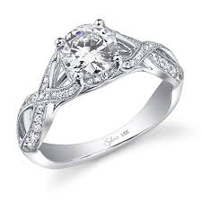 wedding rings cross images Prong set criss cross shank diamond ring sylvie collectionalexis jpg